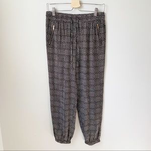 Geometric and funky casual jogger lounge pants